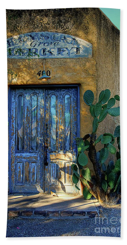 Door Bath Sheet featuring the photograph Elysian Grove In The Morning by Lois Bryan