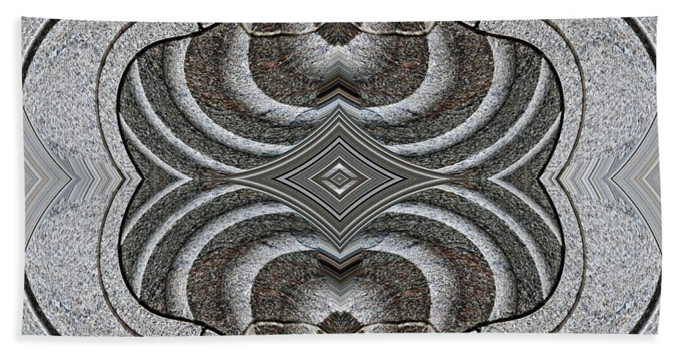 Swirls Hand Towel featuring the digital art Embellishment In Concrete by Sarah Loft