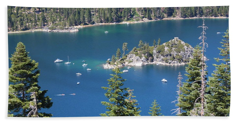 Emerald Bay Hand Towel featuring the photograph Emerald Bay by Carol Groenen