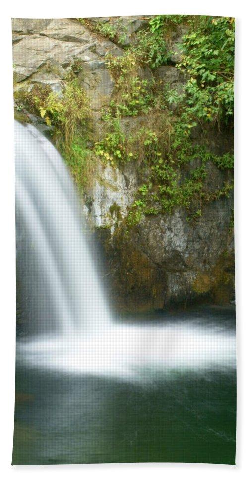 Waterfall Bath Sheet featuring the photograph Emerald Falls by Marty Koch