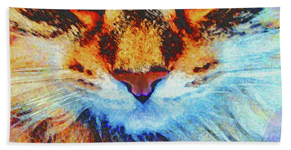 Emerald Gaze Hand Towel featuring the digital art Emerald Gaze by John Beck