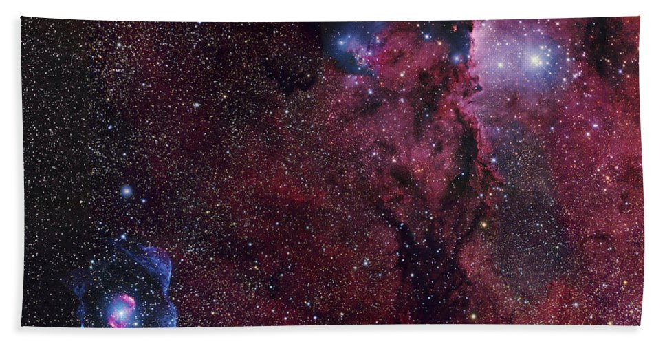Bipolar Nebula Bath Sheet featuring the photograph Emission Nebula Ngc 6188 Star Formation by Robert Gendler