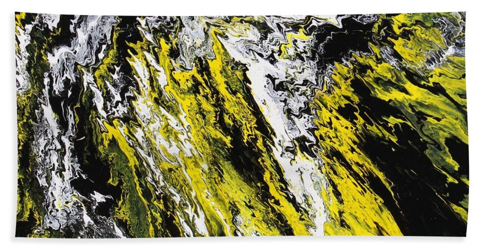 Abstract Bath Sheet featuring the painting Emphasis by Ralph White
