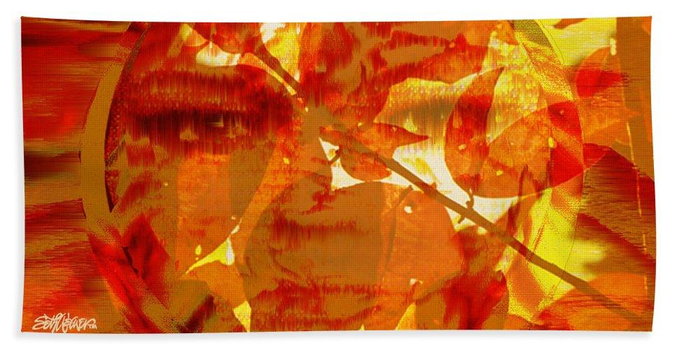 Oriental Bath Sheet featuring the digital art Empress Of The Sun by Seth Weaver