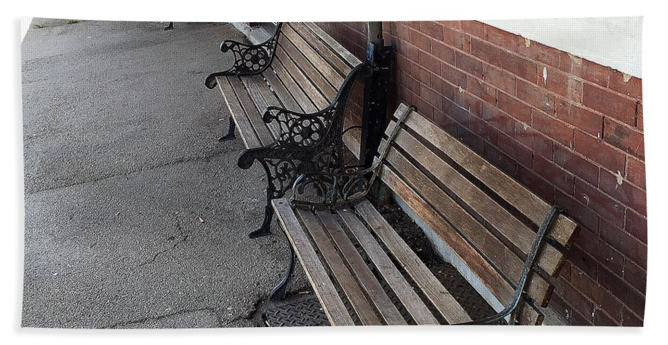 Empty Benches Bath Sheet featuring the photograph Empty Benches by James Pinkerton