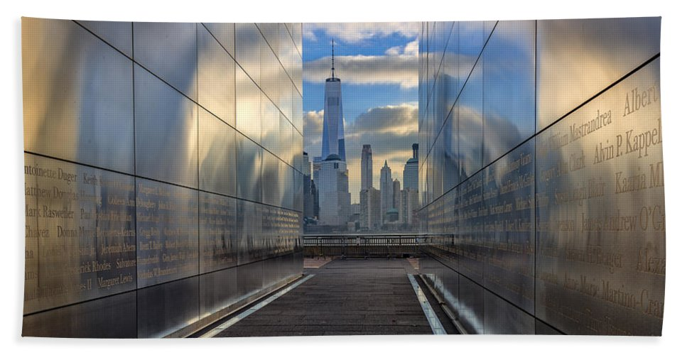 Empty Sky Bath Sheet featuring the photograph Empty Sky Memorial by Rick Berk