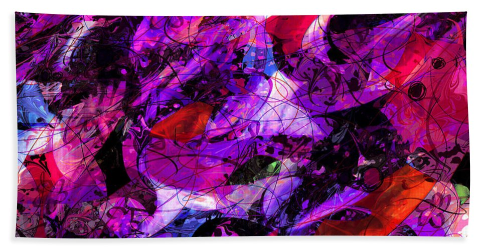Abstract Hand Towel featuring the digital art Enchanted Tales by Rachel Christine Nowicki
