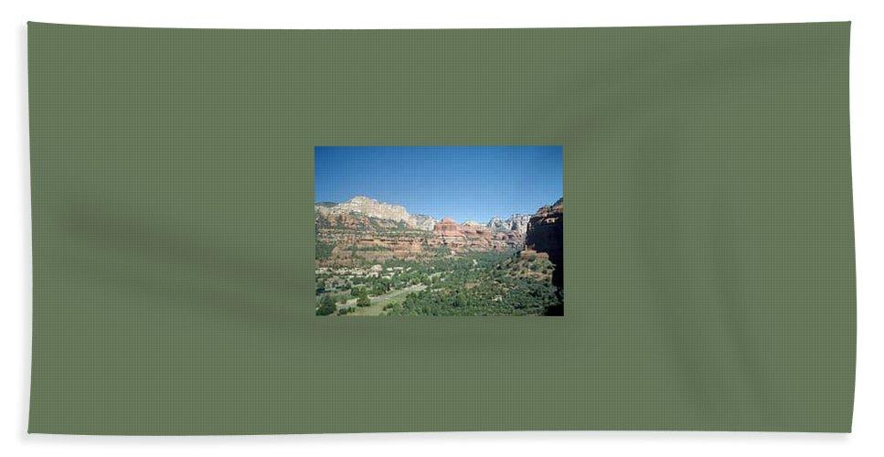 Sedona Hand Towel featuring the photograph Enchantment Resort Sedona Arizona by Gary Wonning