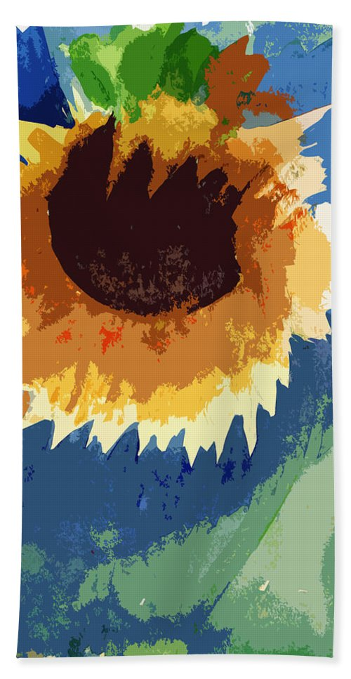 Dying Flower Hand Towel featuring the painting End Of Life Unaware by Kate Hopson