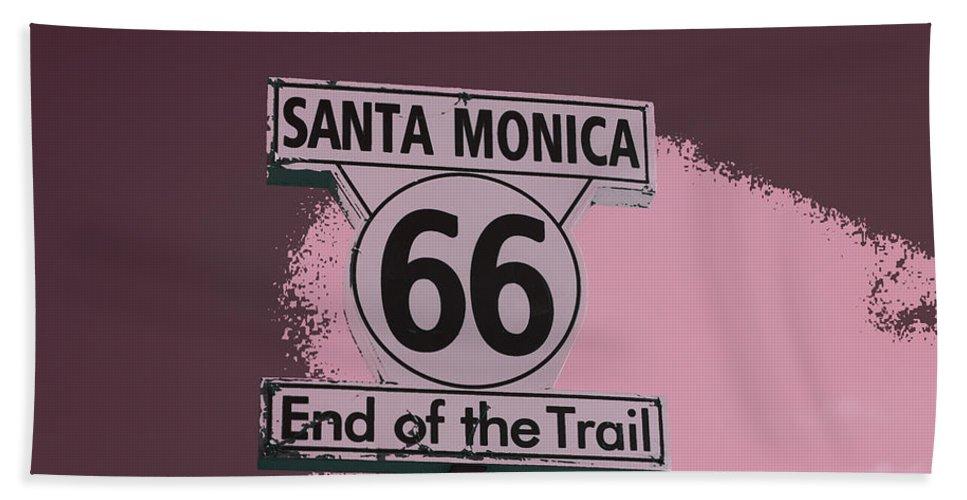 Santa Monica Pier Bath Sheet featuring the photograph End Of The Trail 5 by Fraida Gutovich