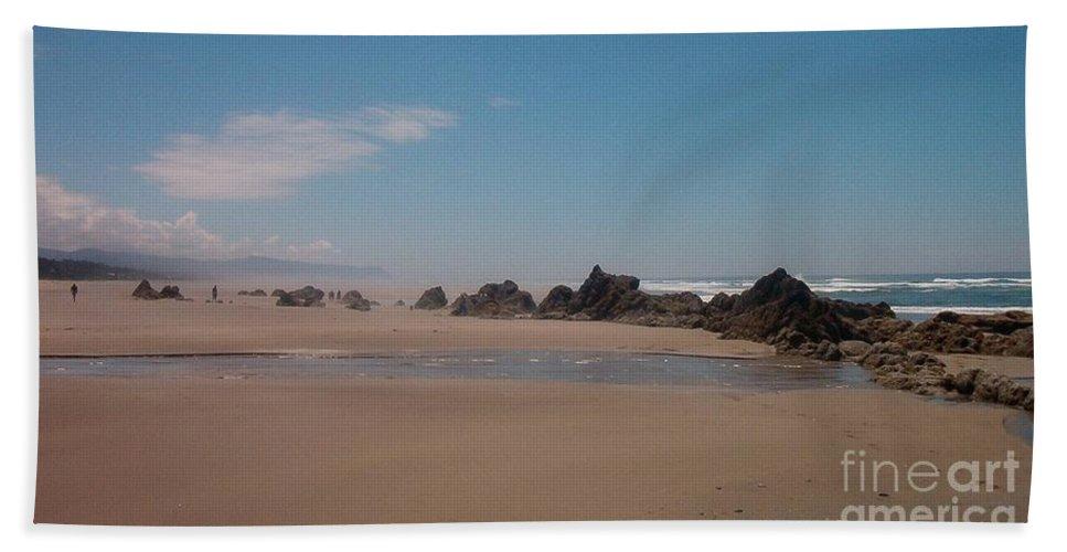 Beach Hand Towel featuring the photograph Endless Beach by Charles Robinson