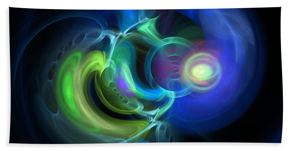 Abstract Hand Towel featuring the digital art Endless by Brainwave Pictures