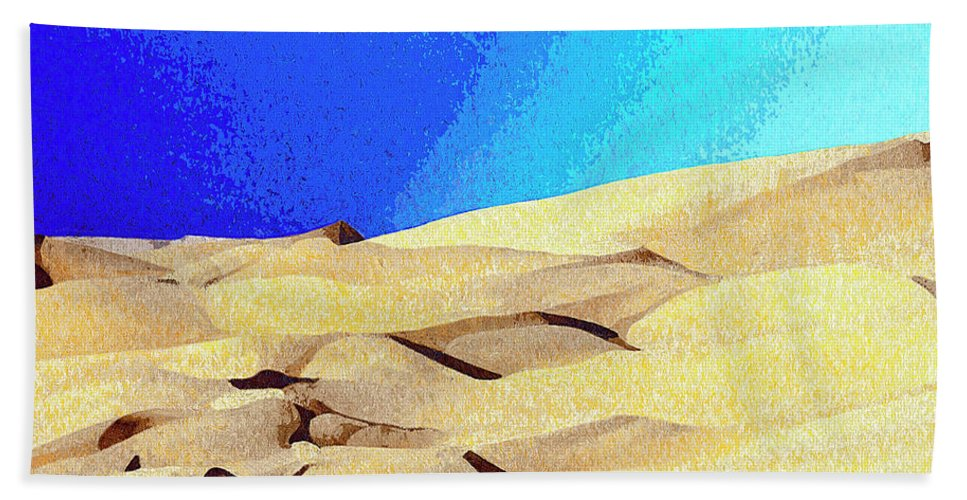 Desert Hand Towel featuring the mixed media Endless by Dominic Piperata