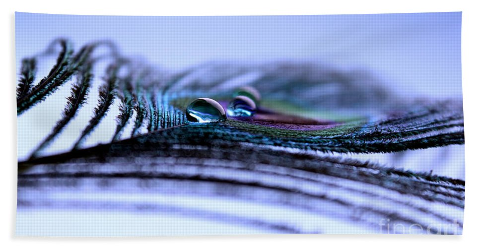 Peacock Feather Hand Towel featuring the photograph Endless Journey by Krissy Katsimbras