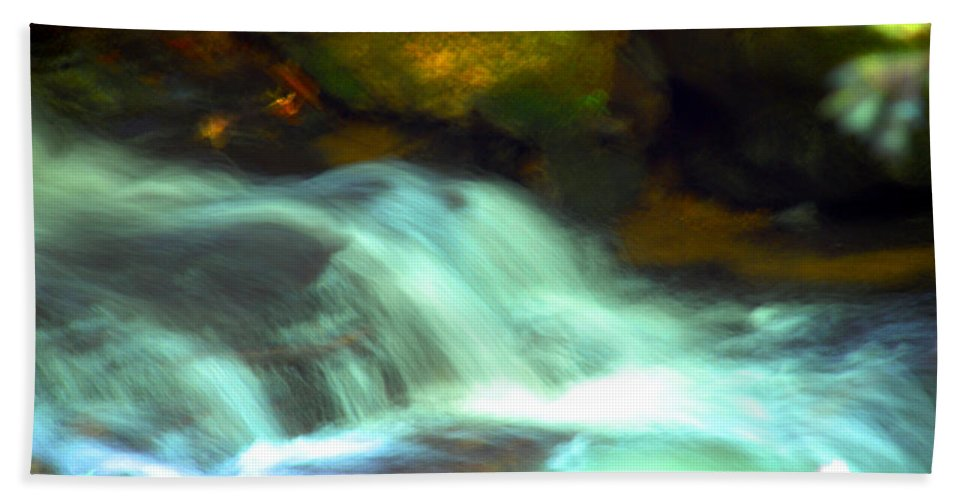 Photography Bath Sheet featuring the photograph Endless Water by Susanne Van Hulst