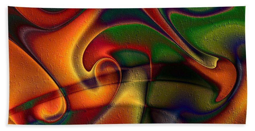 Energetic Bath Sheet featuring the digital art Energetic by Kiki Art