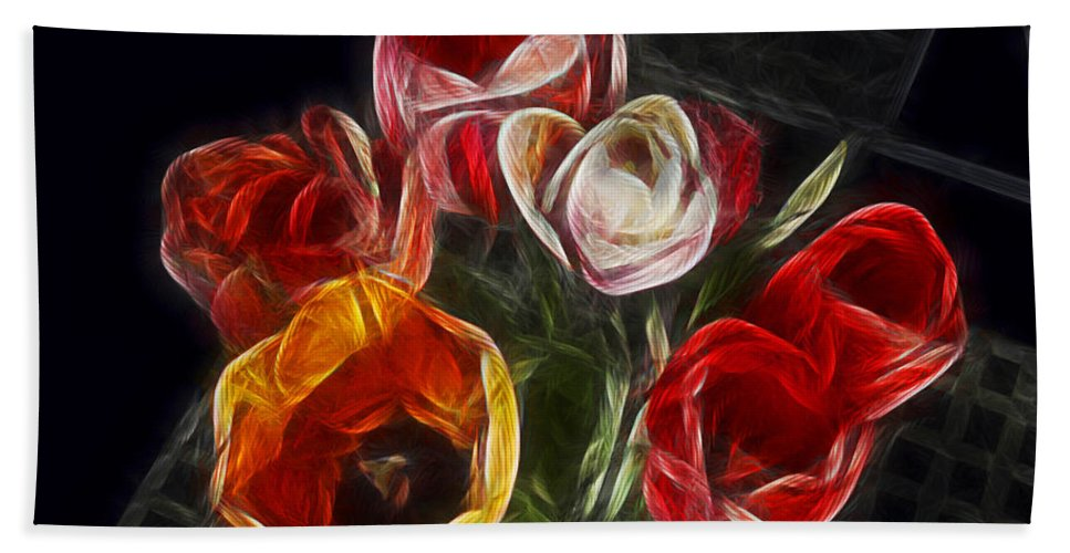 Tulip Bath Towel featuring the photograph Energetic Tulips by Joachim G Pinkawa