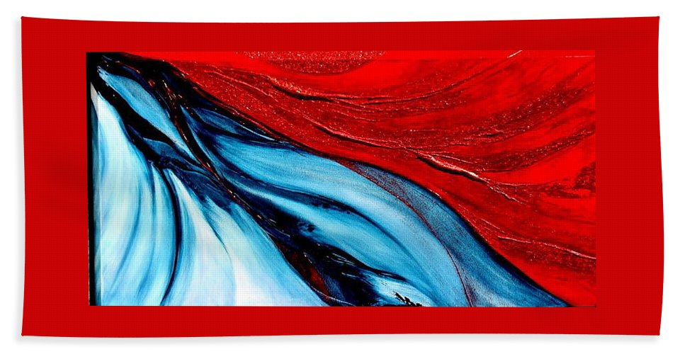 Energy.sun Bath Sheet featuring the painting Energy by Kumiko Mayer