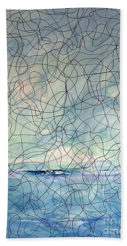 Energy Bath Sheet featuring the painting Energy Series #1 by Lex Halakan