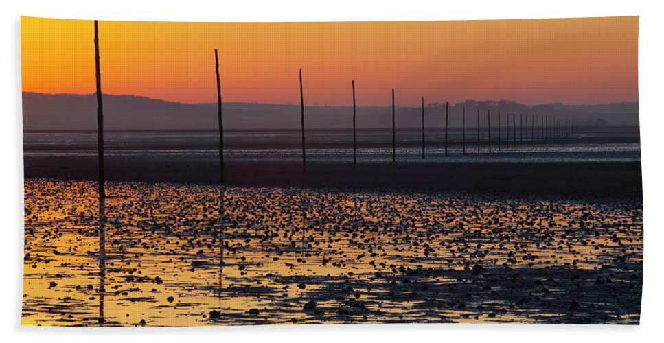 Northumberland Hand Towel featuring the photograph England, Northumberland, Pilgrims Causeway by Jason Friend