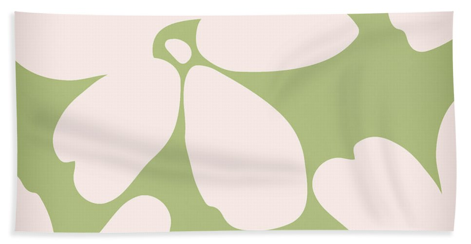 Floral Bath Sheet featuring the painting English Garden Floral Pattern by Mindy Sommers