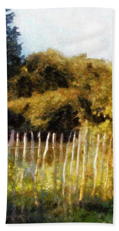 Landscape Bath Sheet featuring the painting English Pastorale by RC DeWinter
