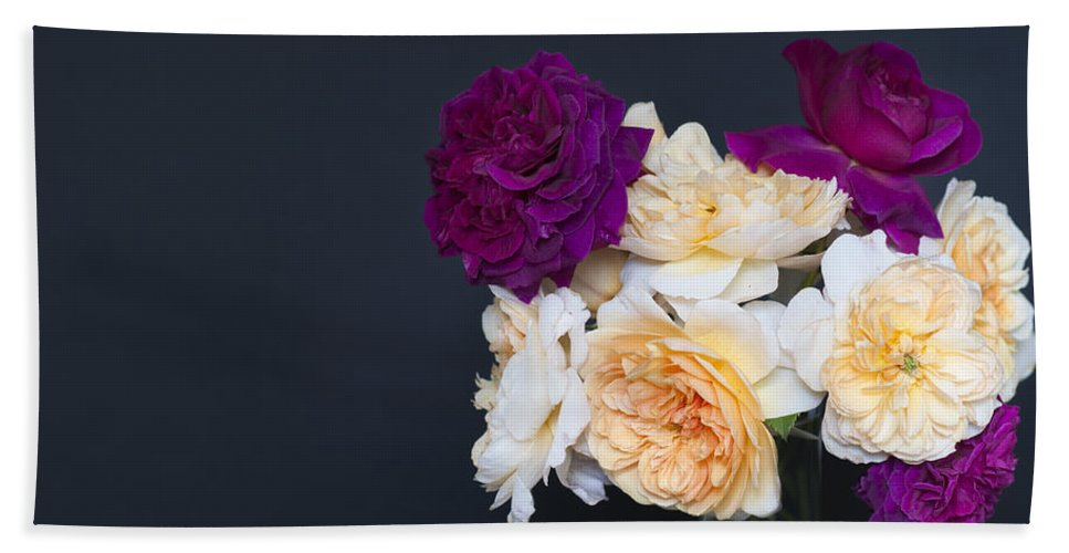 Roses Bath Sheet featuring the photograph English Roses by Ilze Lucero