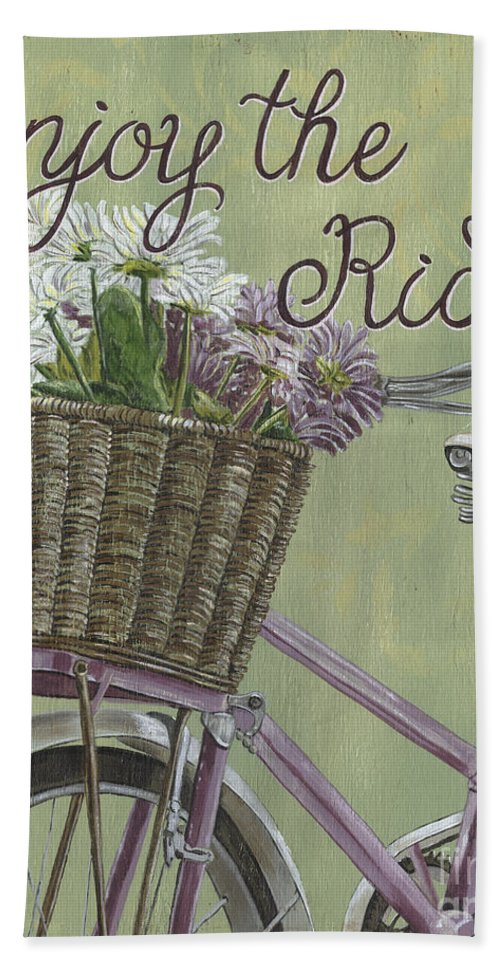 Bike Hand Towel featuring the painting Enjoy The Ride by Debbie DeWitt