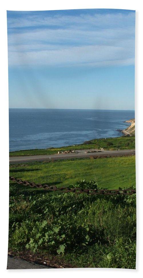 Ocean Hand Towel featuring the photograph Enjoying The View by Shari Chavira