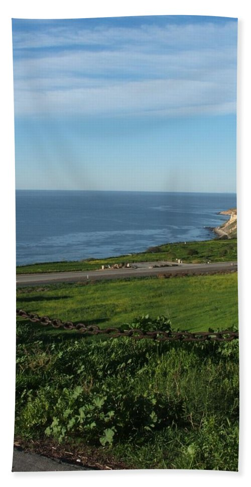 Ocean Bath Sheet featuring the photograph Enjoying The View by Shari Chavira