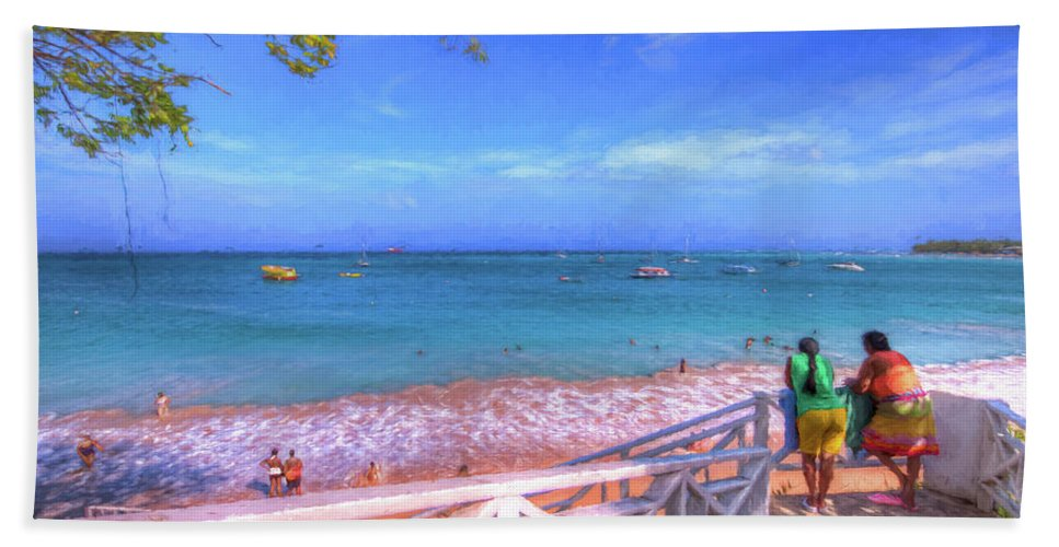 Tropics Hand Towel featuring the photograph Enjoying The View by Sharon Ann Sanowar