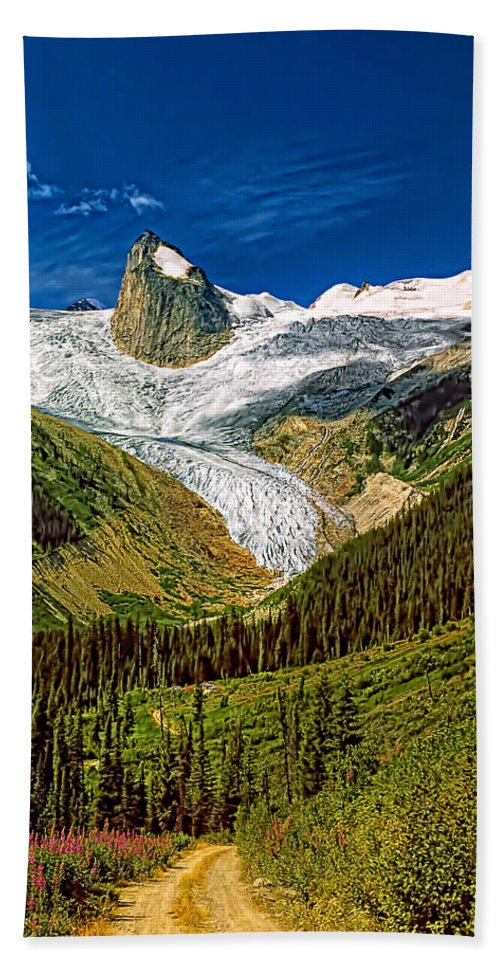 Mountains Hand Towel featuring the photograph Entering The Bugaboos by Steve Harrington