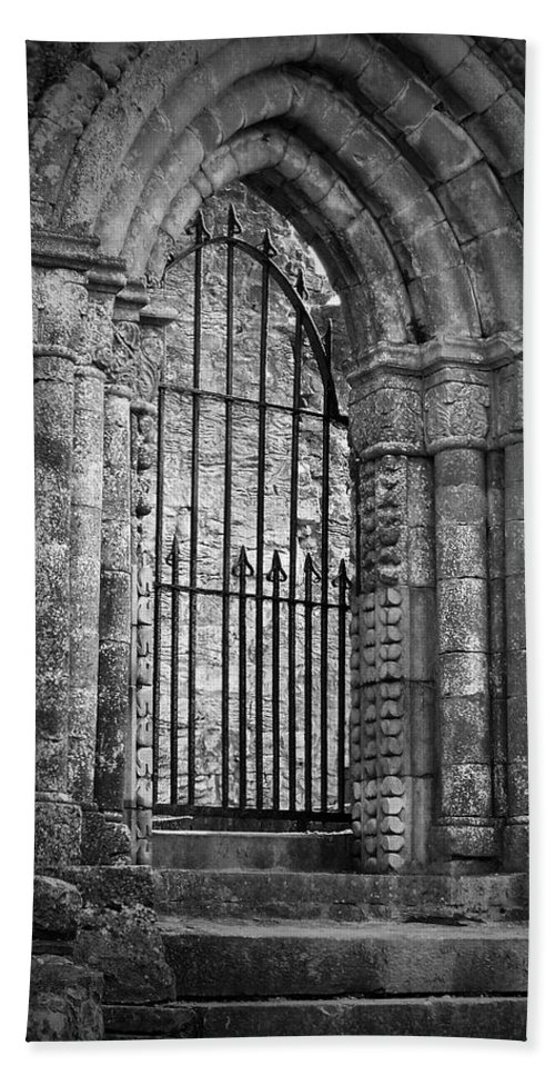 Irish Bath Sheet featuring the photograph Entrance To Cong Abbey Cong Ireland by Teresa Mucha