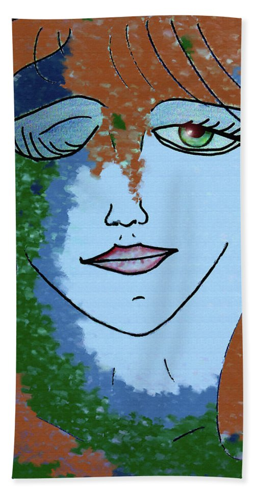 Woman Hand Towel featuring the digital art Envy by Donna Blackhall