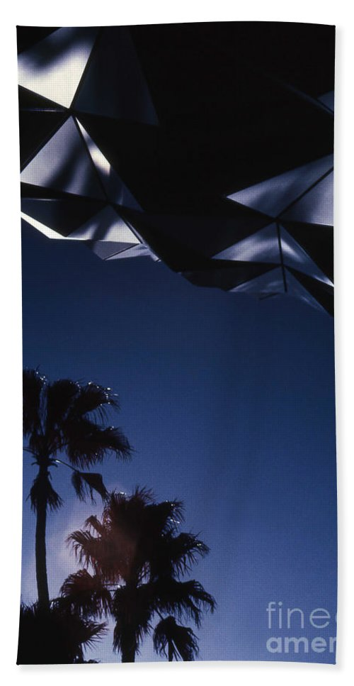 Epcot Bath Sheet featuring the photograph Epcot Abstract by Richard Rizzo