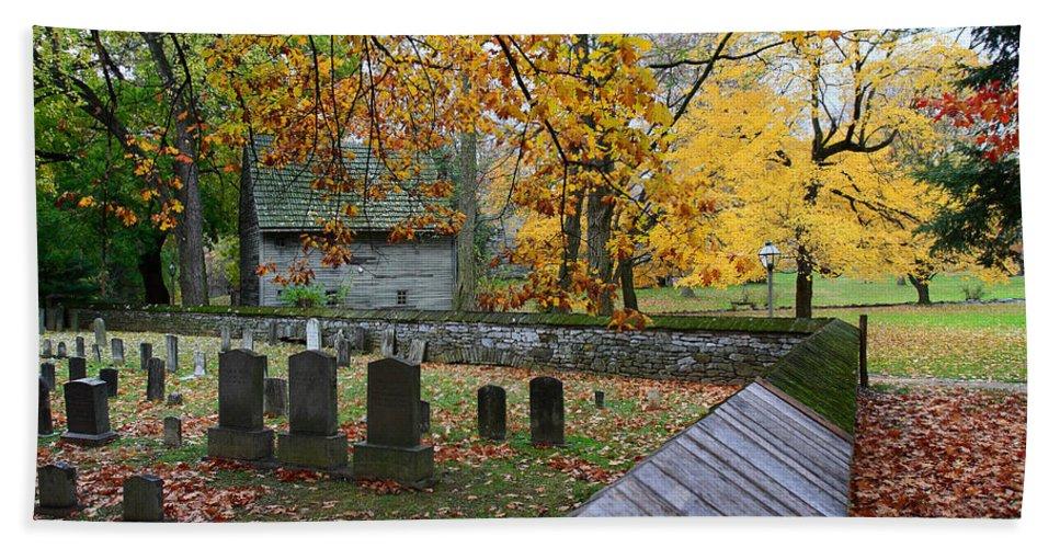 Ephrata Cloister Bath Sheet featuring the photograph Ephrata Cloister Cemetery by William Jobes