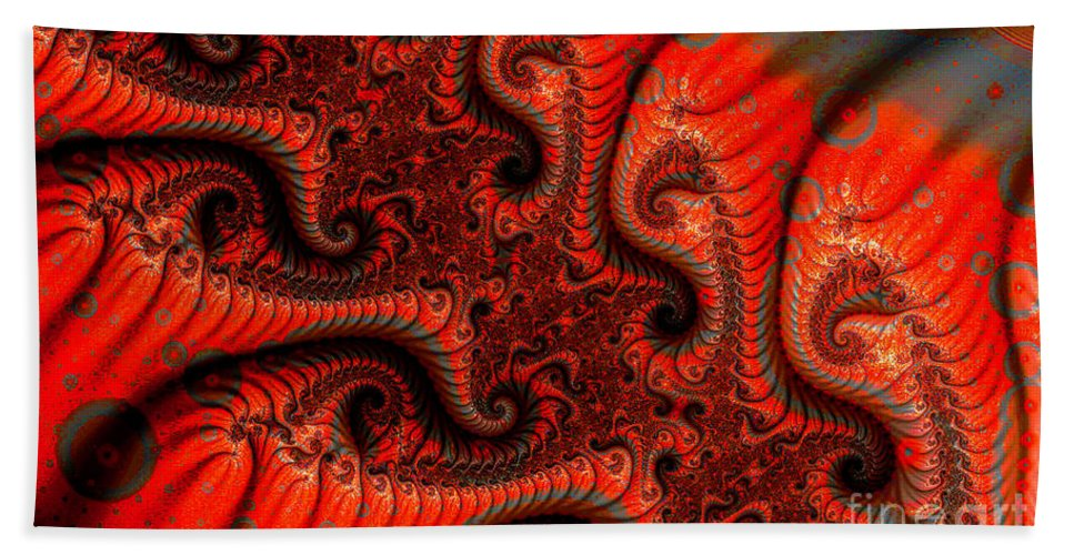 Clay Hand Towel featuring the digital art Epidermal Emancipation by Clayton Bruster