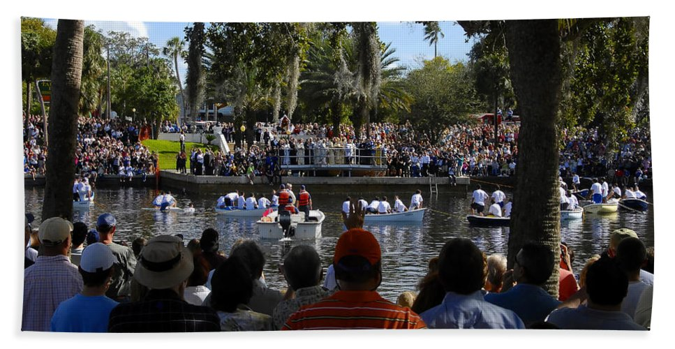 Panoramic Photography Hand Towel featuring the photograph Epiphany At Spring Bayou by David Lee Thompson