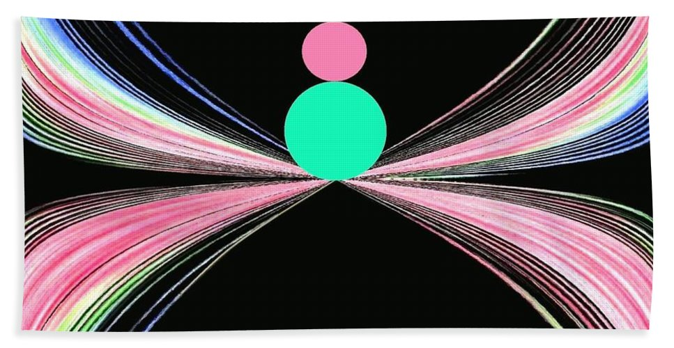 Abstract Bath Towel featuring the digital art Equilibrium by Will Borden