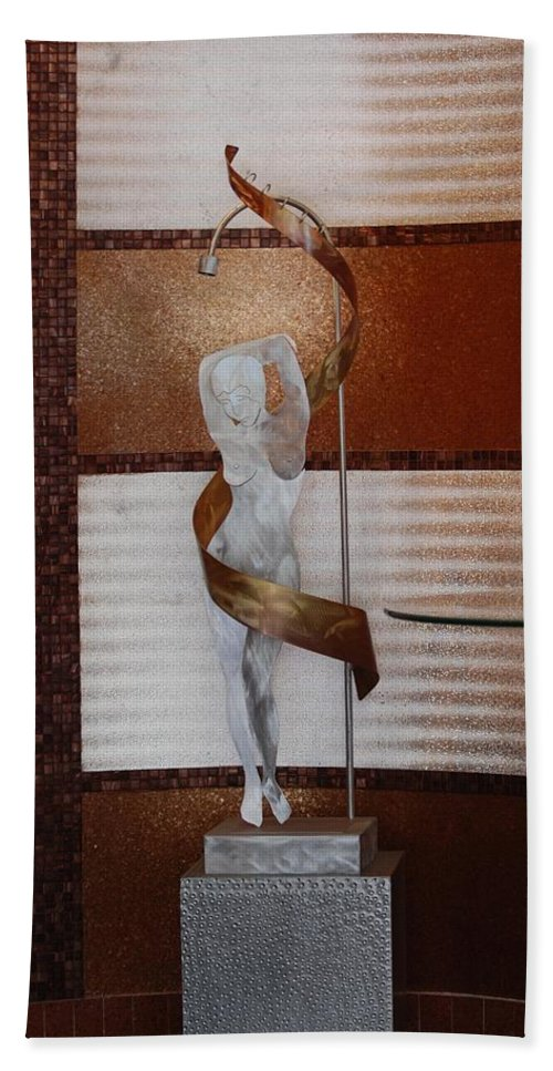 Statue Bath Sheet featuring the photograph Erotic Museum Piece by Rob Hans