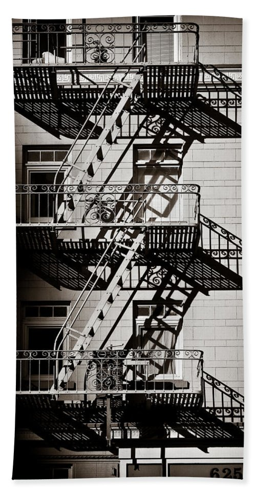 Fire Escape Hand Towel featuring the photograph Escape by Dave Bowman