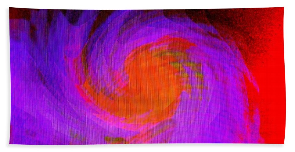 Abstract Bath Sheet featuring the digital art Escape by Ian MacDonald