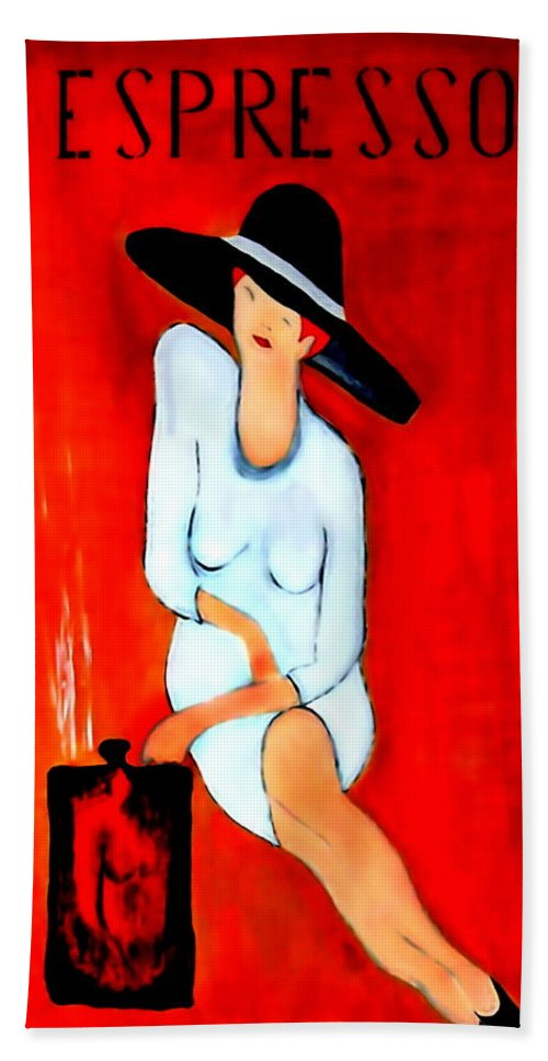 Italian Bath Towel featuring the digital art Espresso by Helmut Rottler