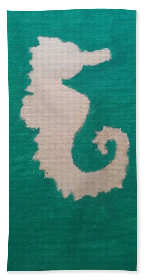 Teal Hand Towel featuring the painting Essance Of The Sea by Alisha Albin