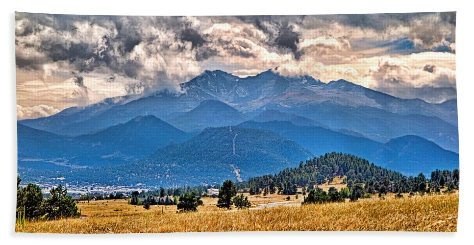 Estes Park Bath Sheet featuring the photograph Estes Park From Glen Haven 3 by Robert Meyers-Lussier