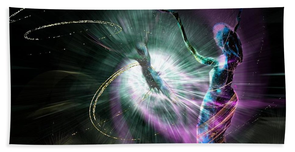Nature Painting Hand Towel featuring the painting Eternel Feminin 02 by Miki De Goodaboom