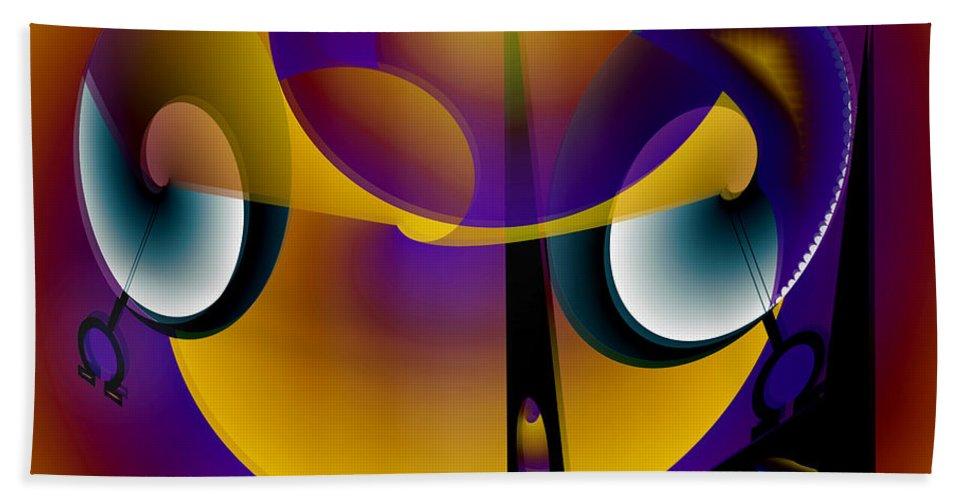 Eternity Hand Towel featuring the digital art Eternity Clock by Helmut Rottler