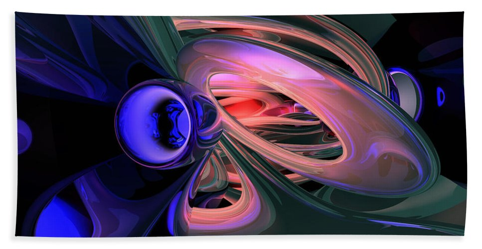 3d Hand Towel featuring the digital art Ethereal Abstract by Alexander Butler