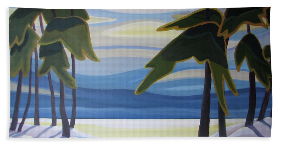 Group Of Seven Hand Towel featuring the painting Ethereal by Barbel Smith