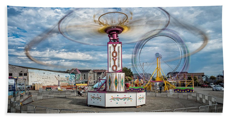 Carnival Bath Sheet featuring the photograph Eureka Carnival by Greg Nyquist